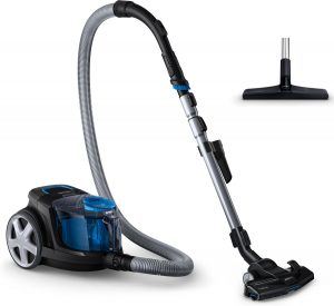 Vacuum cleaner side with Triactive nozzle tube and hose plus Hard floors Nozzle